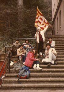 renovació flama 1985 a Montserrat